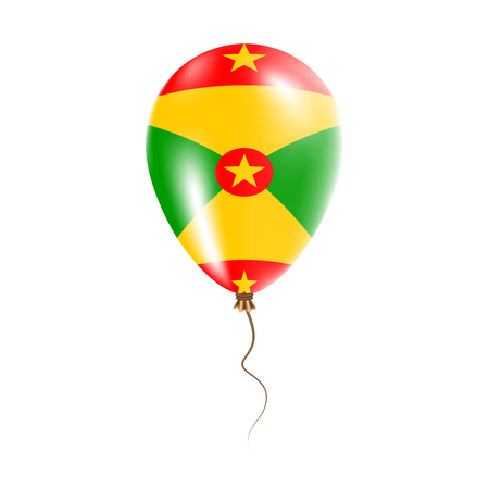 Grenada balloon with flag. Bright air balloon in the country national colors. Country flag rubber balloon. Vector illustration.