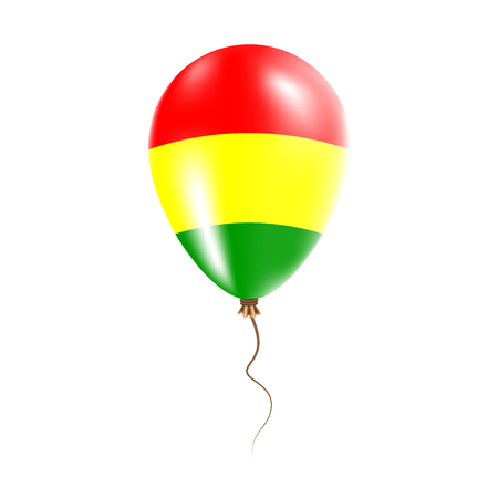 Bolivia balloon with flag. Bright air balloon in the country national colors. Country flag rubber balloon. Vector illustration.