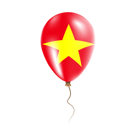 Vietnam balloon with flag. Bright Air Balloon in the Country National Colors. Country Flag Rubber Balloon. Vector Illustration.