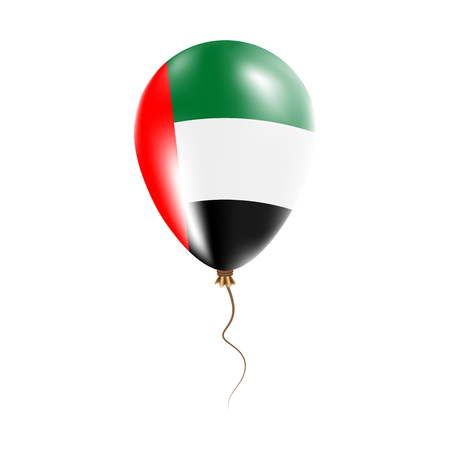 United Arab Emirates balloon with flag. Bright Air Ballon in the Country National Colors. Country Flag Rubber Balloon. Vector Illustration. Illustration