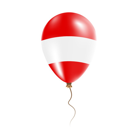 Austria balloon with flag. Bright Air Balloon in the Country National Colors. Country Flag Rubber Balloon.