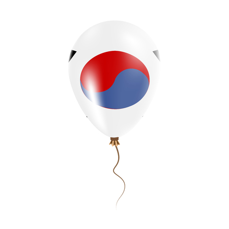Korea, Republic of balloon with flag. Bright Air Balloon in the Country National Colors. Country Flag Rubber Balloon.