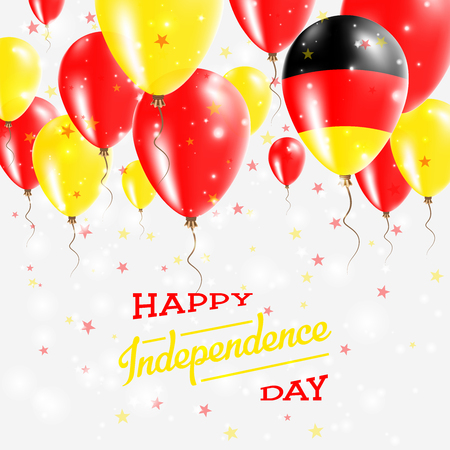 Germany Vector Patriotic Poster. Independence Day Placard with Bright Colorful Balloons of Country National Colors. Germany Independence Day Celebration.
