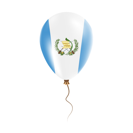 Guatemala balloon with flag. Bright Air Ballon in the Country National Colors. Country Flag Rubber Balloon. Vector Illustration. Illustration