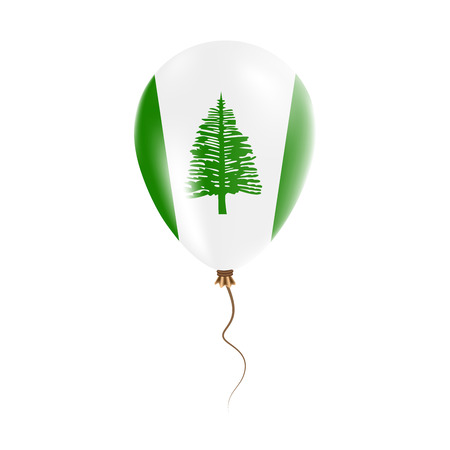 Norfolk Island balloon with flag. Bright Air Ballon in the Country National Colors. Country Flag Rubber Balloon. Vector Illustration. Illustration