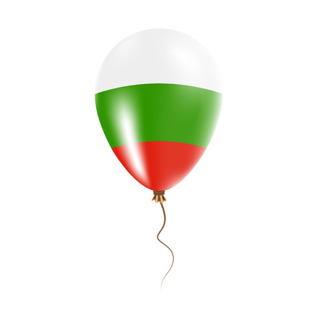 Bulgaria balloon with flag. Bright Air Ballon in the Country National Colors. Country Flag Rubber Balloon. Vector Illustration.