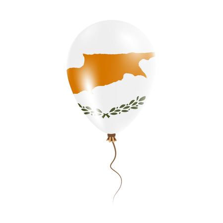 Cyprus balloon with flag. Bright Air Ballon in the Country National Colors. Country Flag Rubber Balloon. Vector Illustration. Illustration