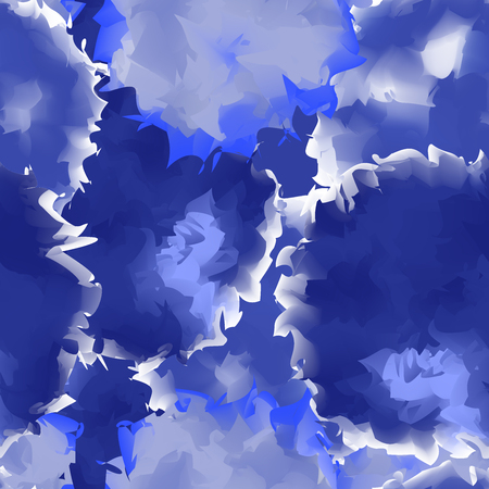 Indigo seamless watercolor texture background. Adorable abstract indigo seamless watercolor texture pattern. Illustration