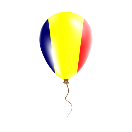 Chad balloon with flag. Bright Air Balloon in the Country National Colors. Country Flag Rubber Balloon. Illustration