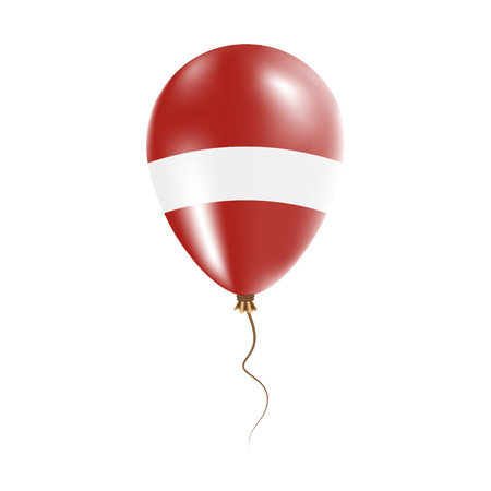 Latvia balloon with flag. Bright Air Balloon in the Country National Colors. Country Flag Rubber Balloon.