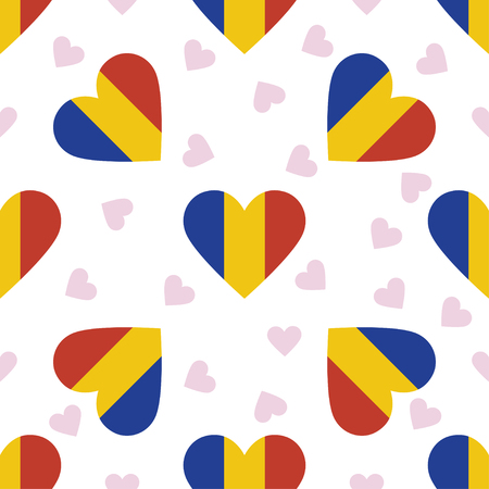 Hearts design for post cards or banners Illustration