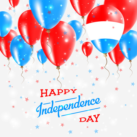 Luxembourg Vector Patriotic Poster. Independence Day Placard with Bright Colorful Balloons of Country National Colors. Luxembourg Independence Day Celebration. Ilustração