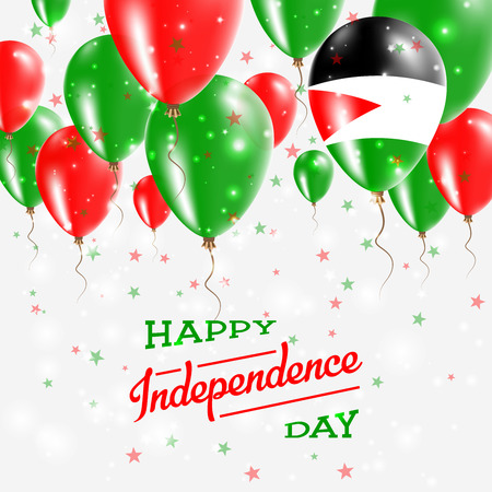 Palestine, State of Vector Patriotic Poster. Independence Day Placard with Bright Colorful Balloons of Country National Colors. Palestine, State of Independence Day Celebration.