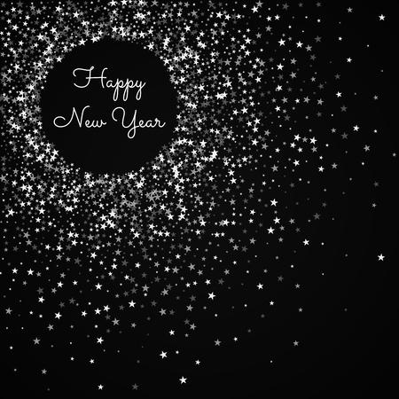 Happy New Year greeting card. Amazing falling stars background. 向量圖像
