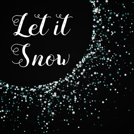 Let it snow greeting card. Amazing falling snow background. Amazing falling snow on wine red background.cute vector illustration. Illustration