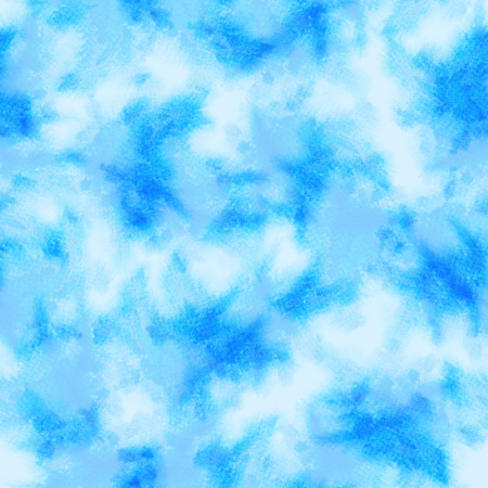 Light blue splashes pattern. Watercolor abstract seamless pattern. Background with scattered light blue splashes and stains. Hand painted splendid tile of loose expressive paint blots. 107. Stock Photo