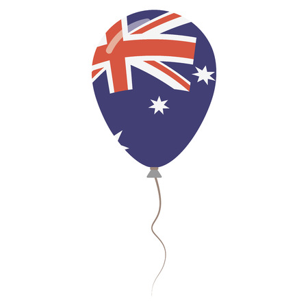 Commonwealth of Australia national colors isolated balloon on white background. Independence day patriotic poster flat style National day vector illustration.