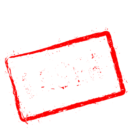 Loser red rubber stamp isolated on white background. Grunge rectangular seal with text, ink texture and splatter and blots, vector illustration.