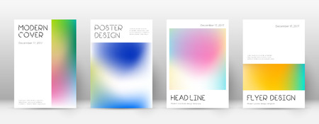 Flyer layout. Minimal modern template for Brochure, Annual Report.