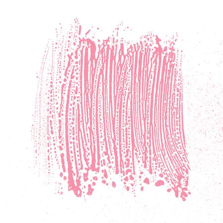 Natural soap texture. Alluring bright pink foam trace background  Vector illustration. Illustration