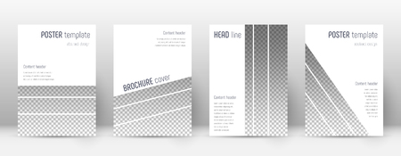 Brochure template design. Modern cover page layout. Amusing trendy poster design. Minimalistic corporate brochure template. Vector illustration on light background.