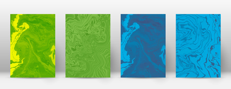 Set of modern abstract marble cover design template.