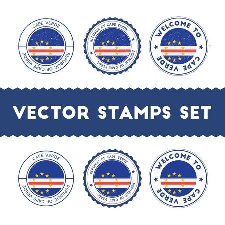 National flag vintage round vector stamps. Illustration