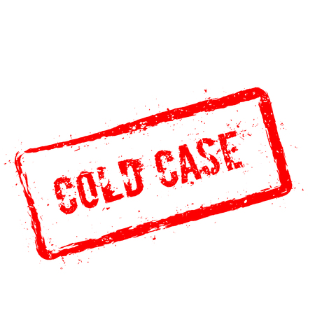 Cold Case red rubber stamp isolated on white background. Grunge rectangular seal with text, ink texture and splatter and blots, vector illustration.