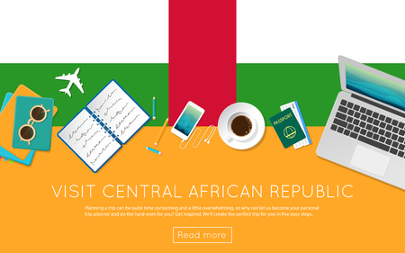 Visit Central African Republic concept for your web banner or print materials.