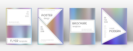 A Flyer layout. Stylish splendid template for Brochure, Annual Report, Magazine, Poster, Corporate Presentation, Portfolio, Flyer. Authentic color gradients cover page.  イラスト・ベクター素材