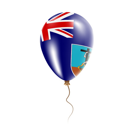 Montserrat balloon with flag. Bright Air Balloon in the Country National Colors. Country Flag Rubber Balloon. Vector Illustration.