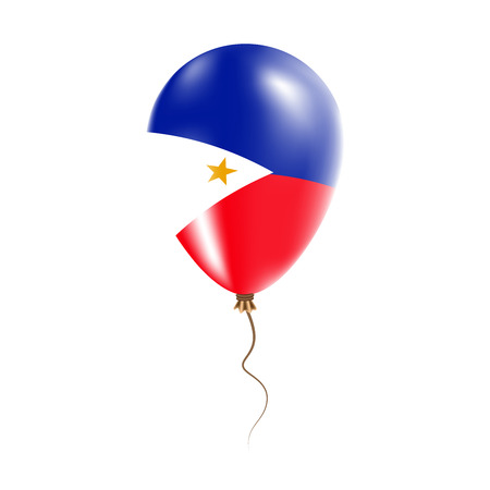 Philippines balloon with flag. Bright Air Balloon in the Country National Colors. Country Flag Rubber Balloon. Vector Illustration. Illustration