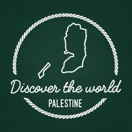 Palestine map image illustration Illustration