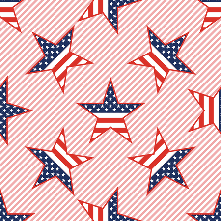 US patriotic stars pattern on red stripes for American patriotic wallpaper with US patriotic stars.