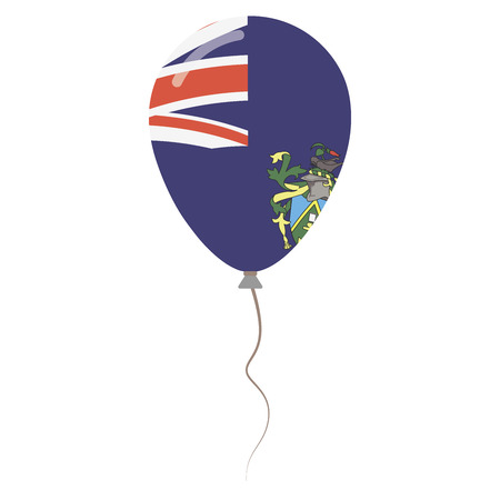 Pitcairn Islands national colors isolated balloon on white background. Independence day patriotic poster. Flat style National day vector illustration.