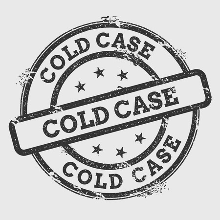 Cold Case rubber stamp isolated on white background. Grunge round seal with text, ink texture and splatter and blots, vector illustration.