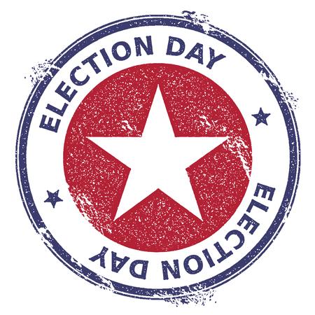 USA election rubber stamp icon illustration Illustration