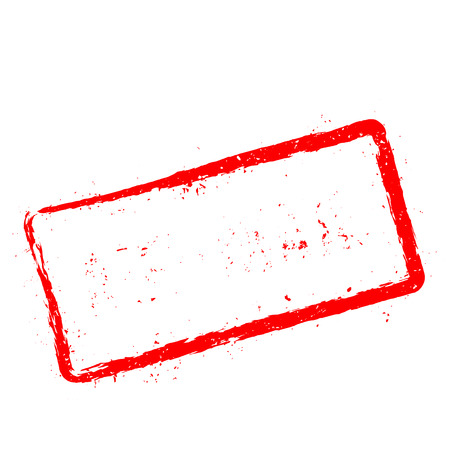 Air-mail red rubber stamp isolated on white background. Grunge rectangular seal with text, ink texture and splatter and blots, vector illustration. Illustration