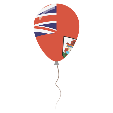 The Bermudas or Somers Isles national colors isolated balloon on white background. Independence day patriotic poster. Flat style National day vector illustration.