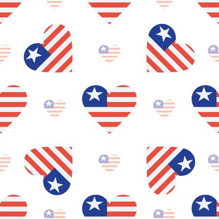 liberia drapeau coeur seamless pattern. drapeau géorgien drapeau . drapeau patriotique en forme de coeur vecteur de fond. élément de fond Vecteurs