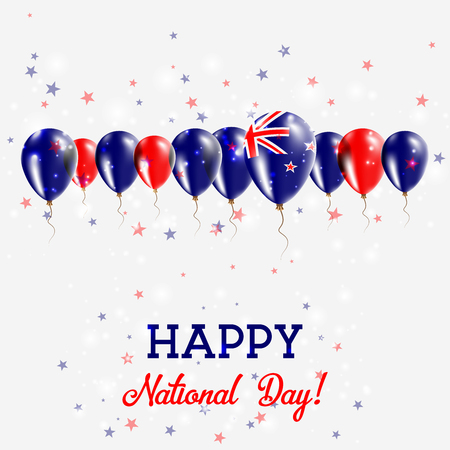New Zealand Independence Day Sparkling Patriotic Poster.