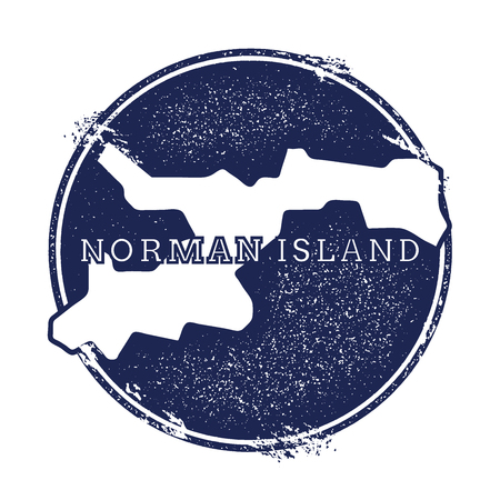 Norman Island vector map. Grunge rubber stamp with the name and map of island, vector illustration. Can be used as insignia, logotype, label, sticker or badge.