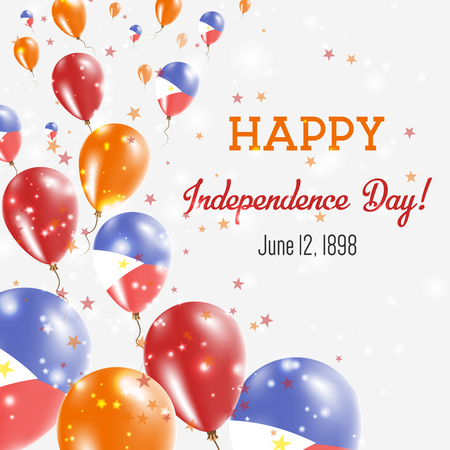 Philippines Independence Day Greeting Card template