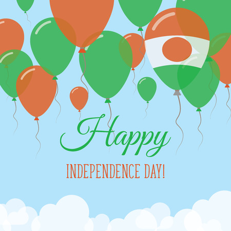 Niger Independence Day Flat Greeting Card