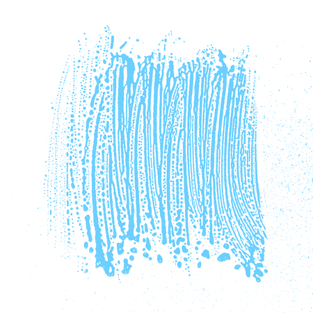 Natural soap texture. Alluring light blue foam trace background. Artistic outstanding soap suds. Cleanliness, cleanness, purity concept. Vector illustration.