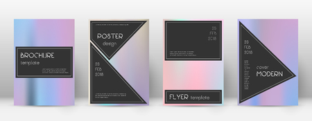 Flyer layout. Black favorable template for Brochure, Annual Report, Magazine, Poster, Corporate Presentation, Portfolio, Flyer. Admirable pastel hologram cover page.
