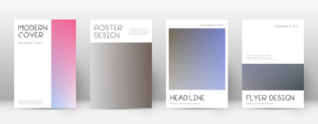Flyer layout. Minimal artistic template for Brochure, Annual Report, Magazine, Poster, Corporate Presentation, Portfolio, Flyer. Appealing color transition cover page. Illustration