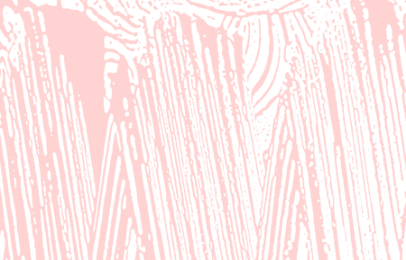 Grunge texture. Distress pink rough trace. Fair background. Noise dirty grunge texture. Flawless artistic surface. Vector illustration.