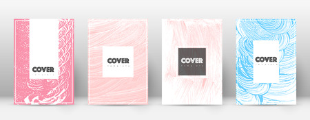 Cover page design template. Hipster brochure layout. Brilliant trendy abstract cover page. Pink and blue grunge texture background. Sublime poster.
