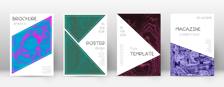 Abstract cover. Sublime design template. Suminagashi marble triangle poster. Sublime trendy abstract cover. Business vector illustration.